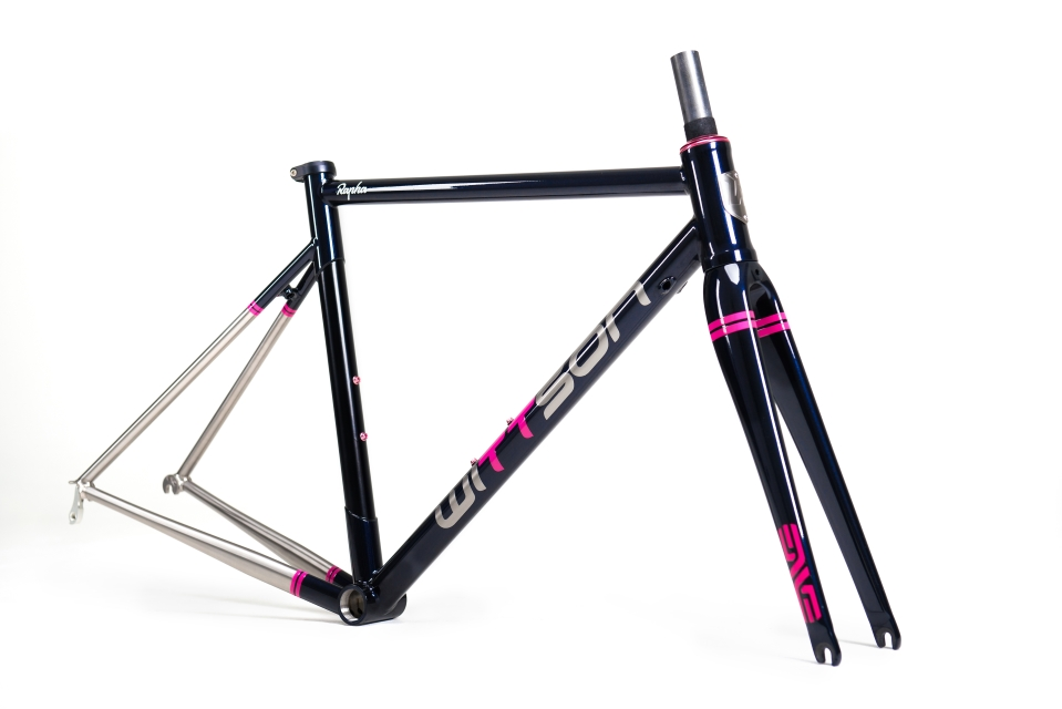 Custom Rapha titanium road bicycle frame