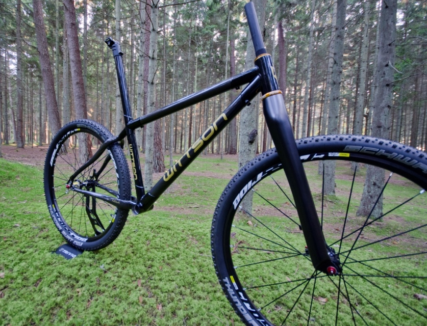 "Wittson Custom Titanium Carbon 27.5"" 650B Frame Set Inclusive Chris King Gold Headset"