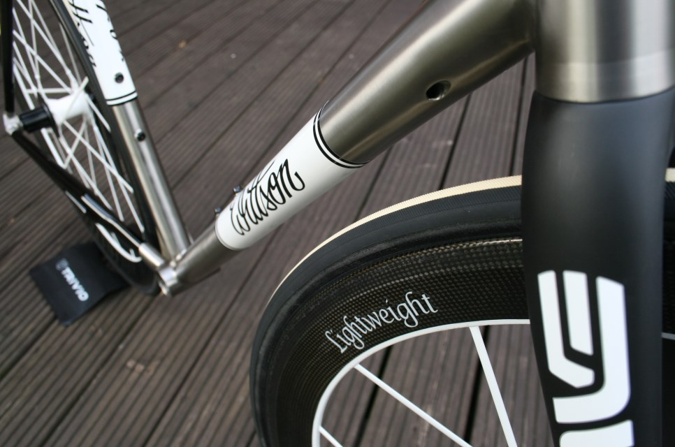 Custom titanium road frame set with Colnago carbon stays | Wittson ...