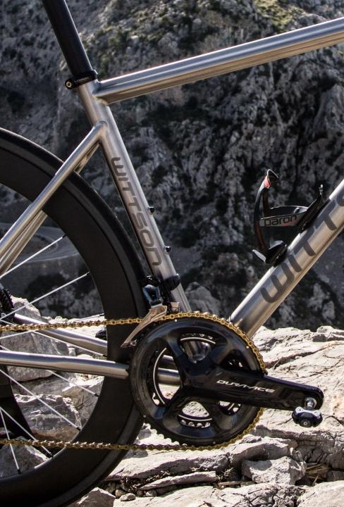 Custom titanium road disc bicycle Illuminati with Dura-Ace