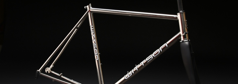 mirror polished titanium bicycle frame road disc