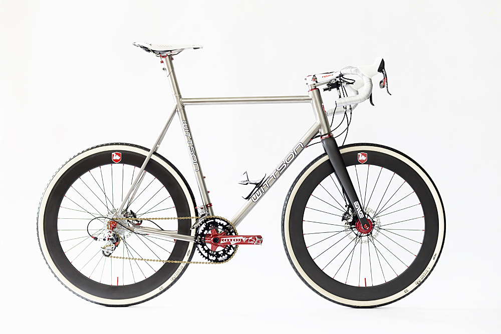 Titanium Cyclocross Bicycle Enve Chris King Cinelli Ram 2 Fizik Arione A-Dugast Pipisquallo Rotor