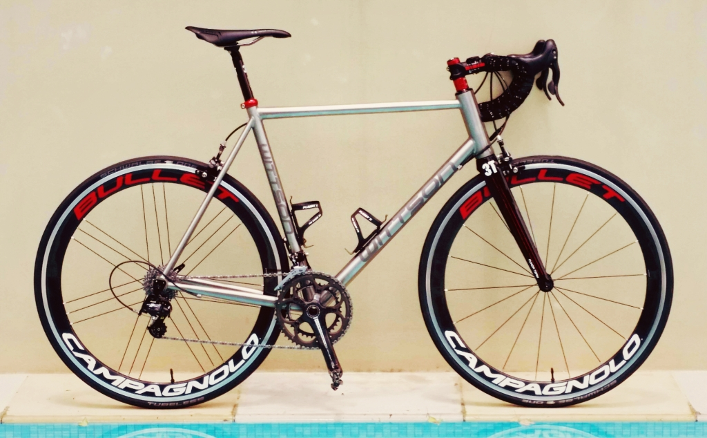 wittson titanium road bicycle with campagnolo record groupset 3t funda fork campagnolo bullet wheelset