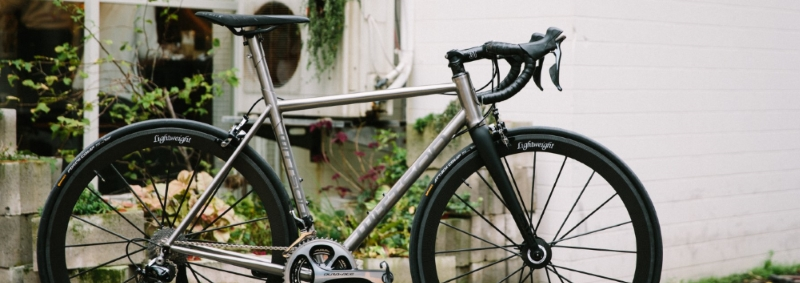 Yao Bike custom titanium road bicycle Wittson Suppresio with Dura-Ace groupset and Lightweight Meilenstein wheelset